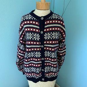 Vintage Pendleton Large Fair Isle Cardigan Sweater